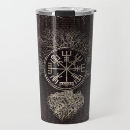 Vegvisir  and Tree of life  -Yggdrasil Travel Mug