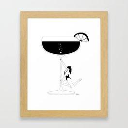 Cocktail dance Framed Art Print