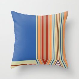 Bold blue Abstract Line Throw Pillow