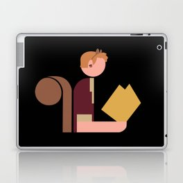 Squirrel Lady Reads Laptop & iPad Skin