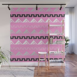 Mountains in blush pink Wall Mural