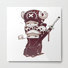 One Piece Law & Chopper Metal Print