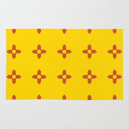flag of new mexico 3 Rug