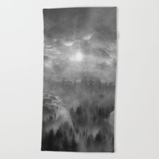 Black and White - Wish You Were Here (Chapter I) Beach Towel