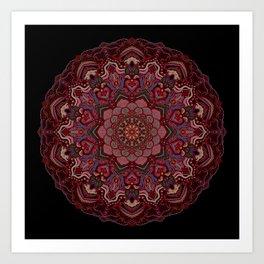 Mandala Project 285 | Red Art Print