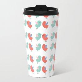 Cute coral green modern bird illustration Travel Mug