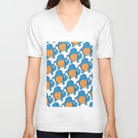 squirtle V-neck T-shirts featuring  1 Squirtle, 2 Squirtle, 3 Squirtle, 4 by pkarnold + The Cult Print Shop