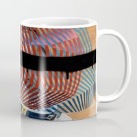 spaceman Mugs featuring Spaceman No:2 by FAMOUS WHEN DEAD