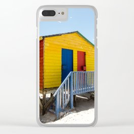 Colorful beach huts Clear iPhone Case