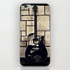 Be Your Song and Rock On in Black iPhone & iPod Skin