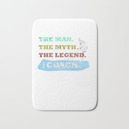 The Man, The Myth, The Legend, The Icehockey Coach Bath Mat