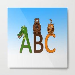 ABC Animals Metal Print