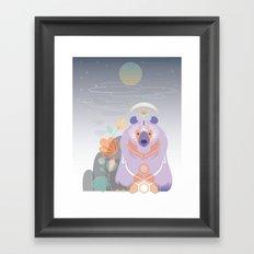 Bear of the Mountain Framed Art Print