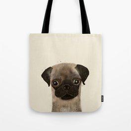 little pug Tote Bag