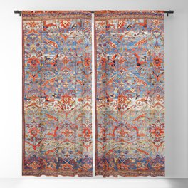 Sultanabad Antique Persian Rug Print Blackout Curtain