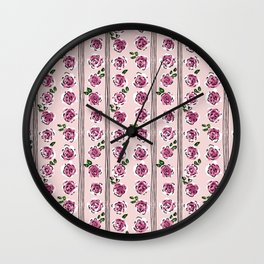 sweet roses rockabilly style Wall Clock