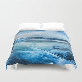 Lake Baikal. March Duvet Cover