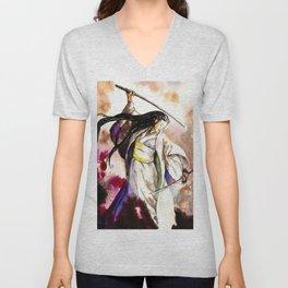 Tomoe Gozen watercolor Unisex V-Neck