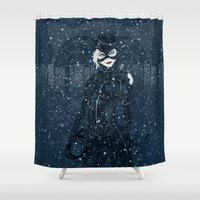 returns Shower Curtains featuring ME-OW. Catwoman Returns by Jamesy