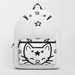 Mystic Cat - Black Backpack