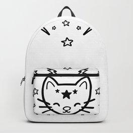 Mystic Cat - Black Backpack