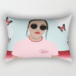 Red & Pink Butterflies and a Bitchin' T-shirt Rectangular Pillow