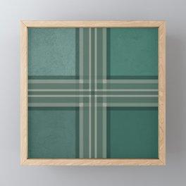 Shades of green Framed Mini Art Print