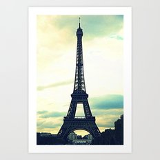 Eiffel Tower by Day Art Print