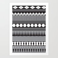 native Art Prints featuring Native  by flamboyancedesigns