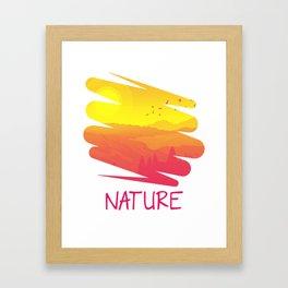 The Nature Retro Style py Framed Art Print