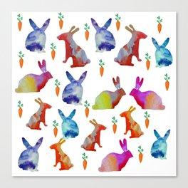 Rabbits Joy Canvas Print
