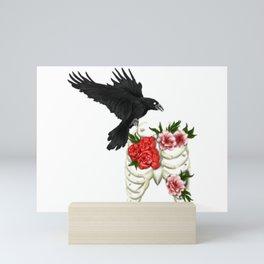 RIBCAGE RAVEN Mini Art Print