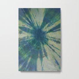 Tie Dye in Blue and Green 6 Metal Print