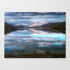 Morning Reflections On Loch Leven Canvas Print