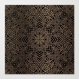 Black Gold Mandala Canvas Print