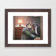 Cute Little Piggy Framed Art Print