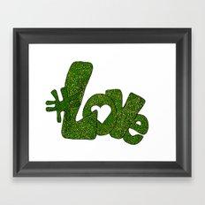 #Love in Green Framed Art Print
