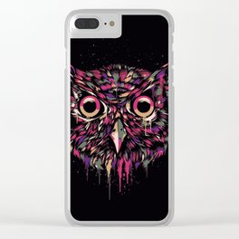 Colored Owl Clear iPhone Case