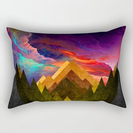 Sky on Fire Rectangular Pillow