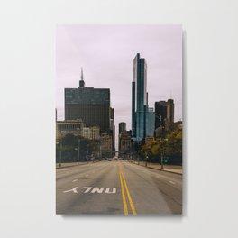 Chicago Streets Metal Print
