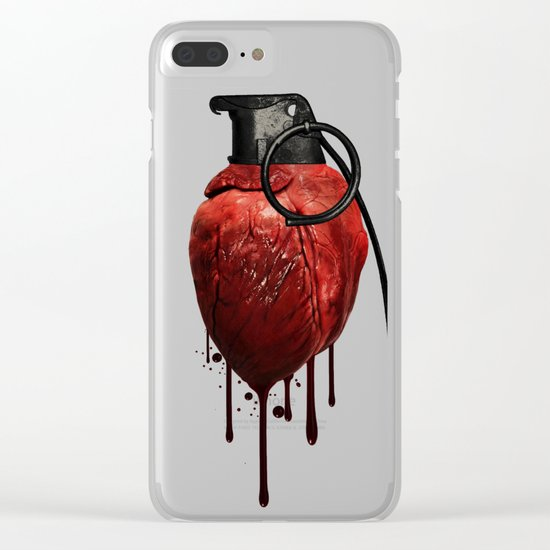 Heart Grenade Clear iPhone Case