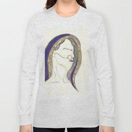 Blue Lady Long Sleeve T-shirt