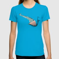 the journey of a swan Teal LARGE Womens Fitted Tee