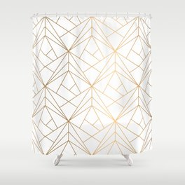 Polygonal Pattern Shower Curtain