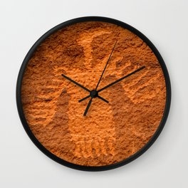Turkey Vulture Petroglyph - Moab, Utah Wall Clock