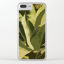 Agave Abstract Clear iPhone Case