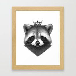 Queen raccoon Framed Art Print