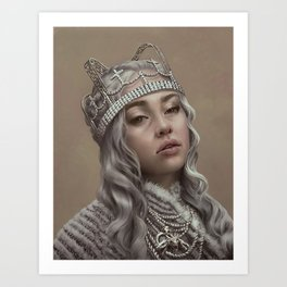 You should see me in a crown Art Print