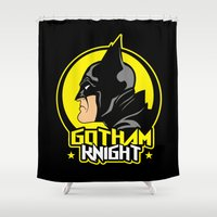 knight Shower Curtains featuring Knight by Buby87