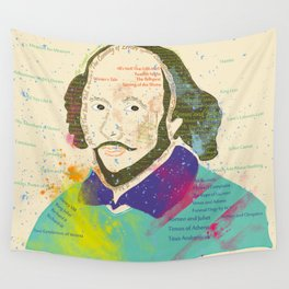 Portrait of William Shakespeare-Hand drawn Wall Tapestry